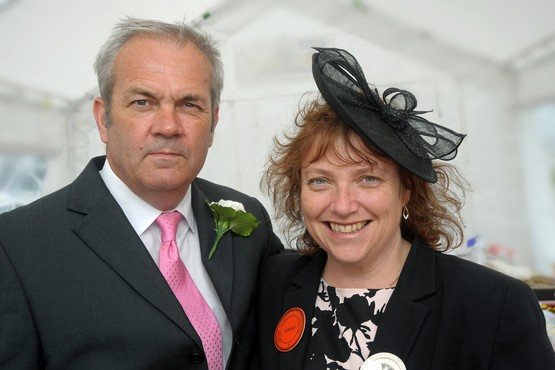 President of this year's Gwinear show Nikki Vincent with her husband Chris Normanshire enjoy the show. | Gwinear Show